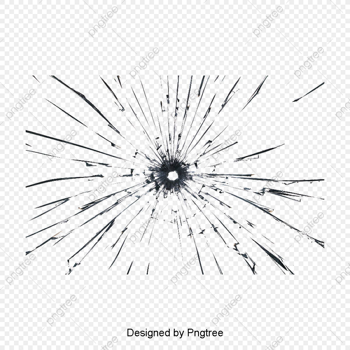 Burst Crack, Bullet Holes, Empty Glass, Broken PNG