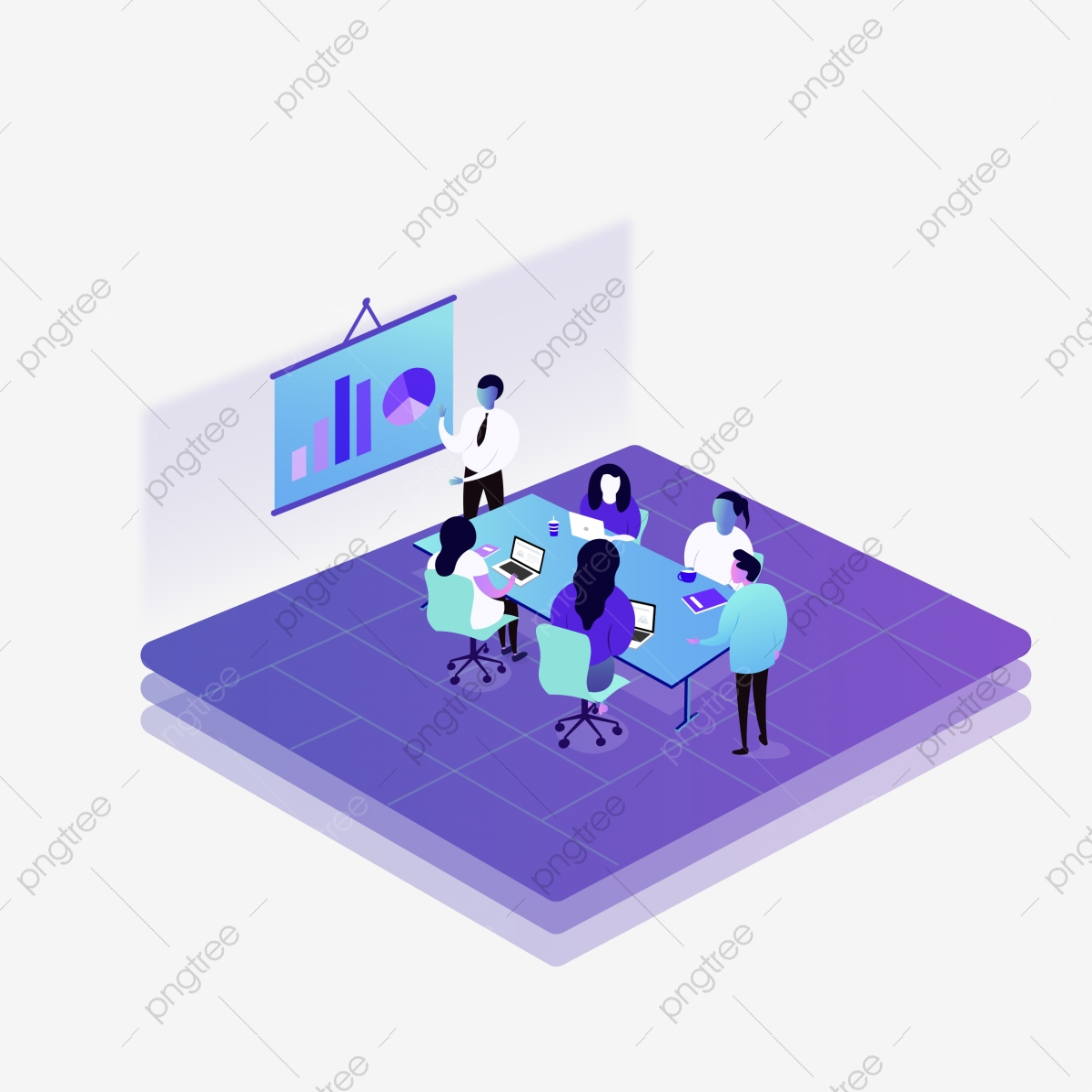 l introduction de services de vecteur de silhouette service introduction projet commercial png