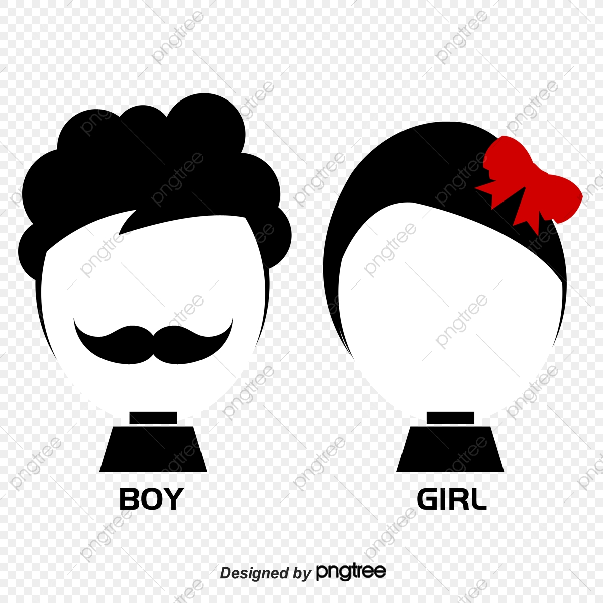 Cartoon Couple, Cartoon, Lovers, Bow PNG Transparent Clipart Image
