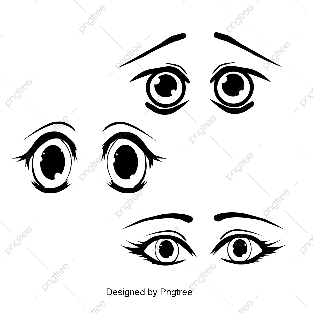Cartoon Eyes Png Images Vector And Psd Files Free Download On