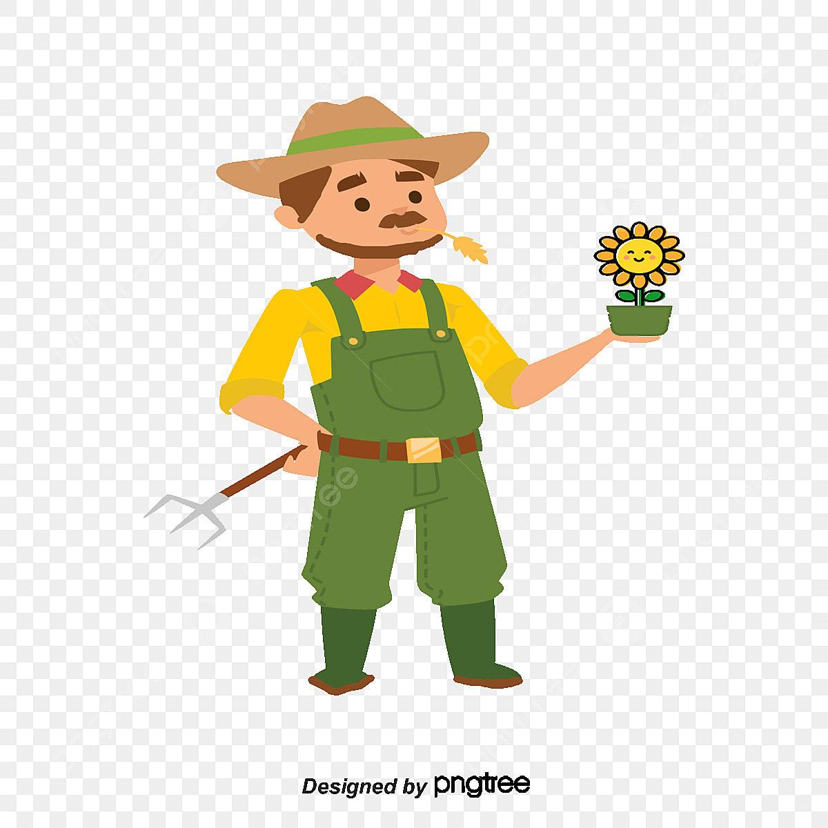 Diseño De Dibujos Animados Vector Material De Jardinero Una Mano