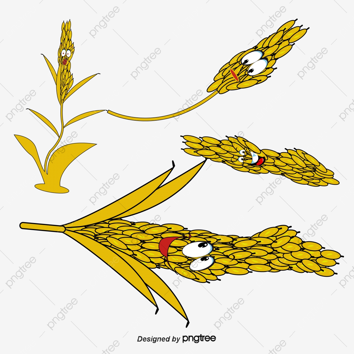 Cartoon Wheat Cartoon Wheat Food Png And Vector With Transparent Background For Free Download