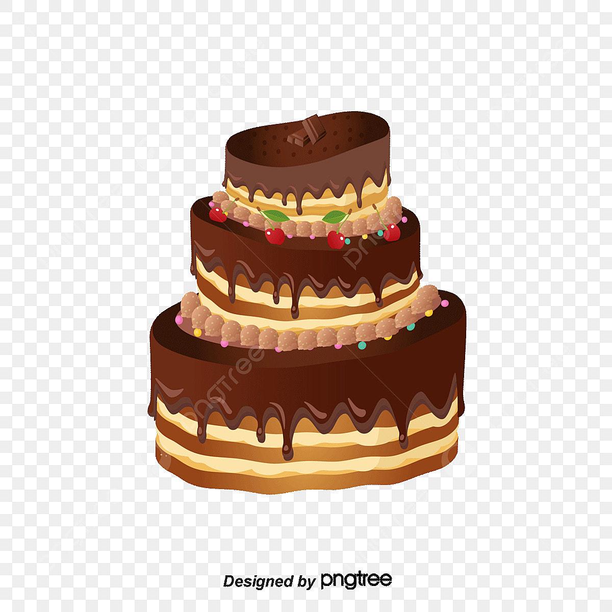 Chocolate Birthday Cake Vector Material, Chocolate Vector, Birthday