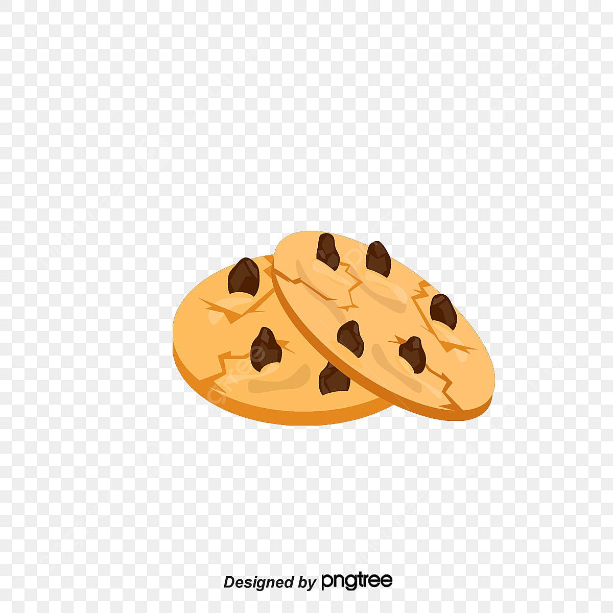 Chocolate Chip Cookies Cartoon Design Vector Material Chocolate