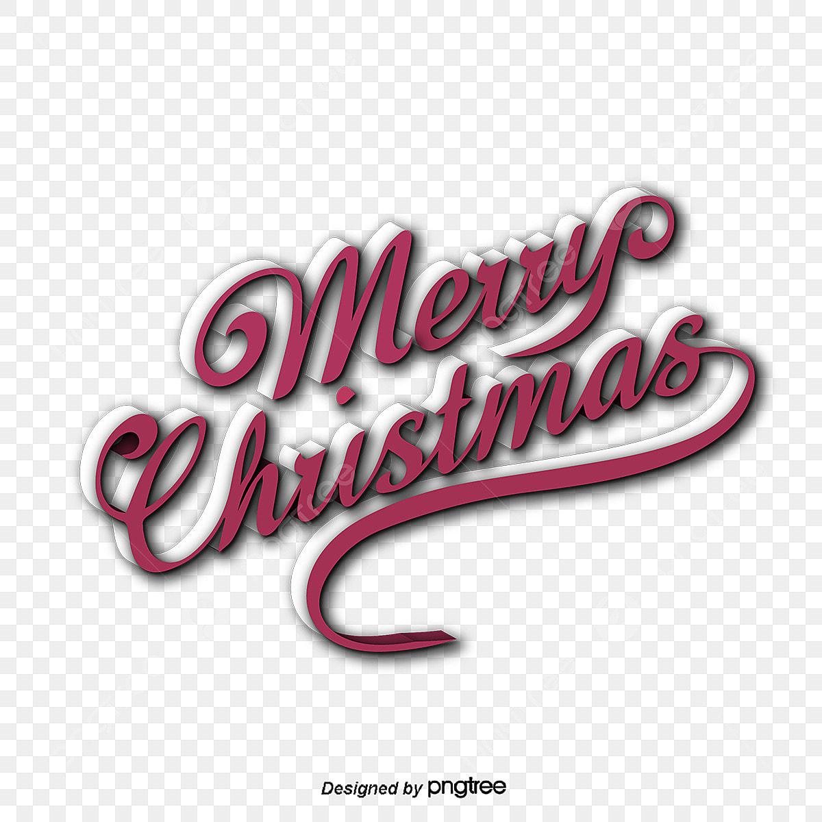 Christmas Font Design Christmas Vector Merry Christmas