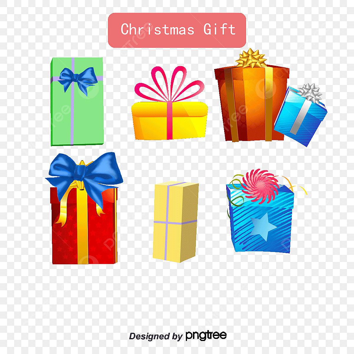 Natal Caixa De Presente Colorido Dos Desenhos Animados