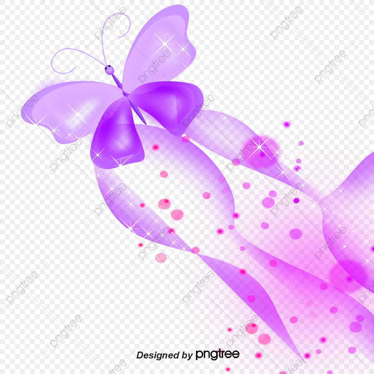 Colorful Butterfly Butterfly Clipart Purple Light Png Transparent Clipart Image And Psd File For Free Download