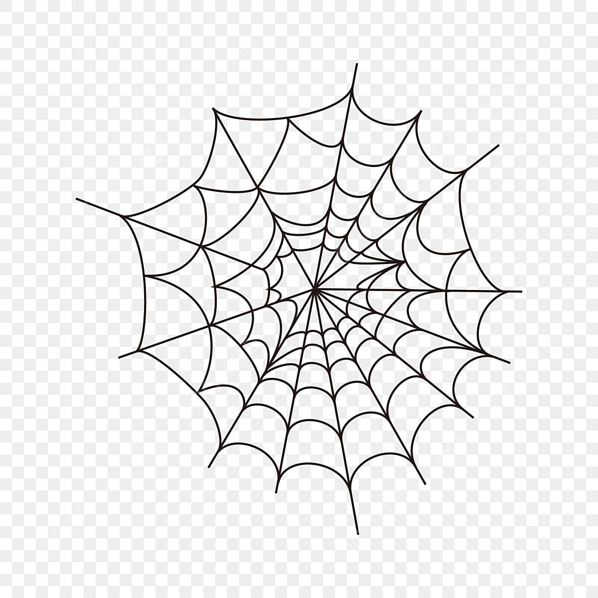 Spider web cartoon. Creative icon clipart