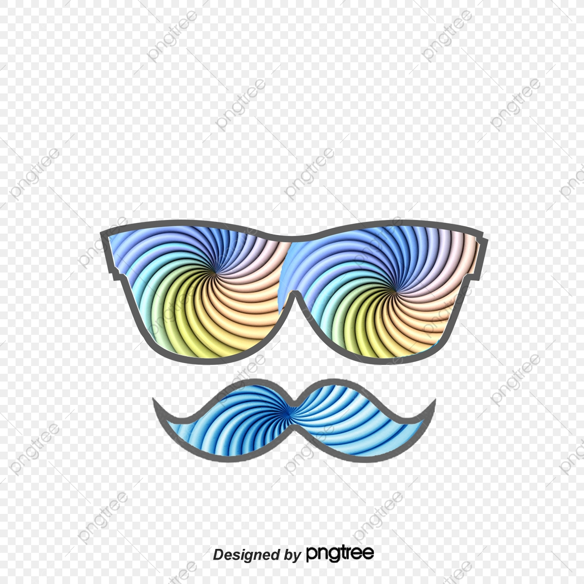 Creative Eye And Mustache, Color, Decoration, Illustration PNG
