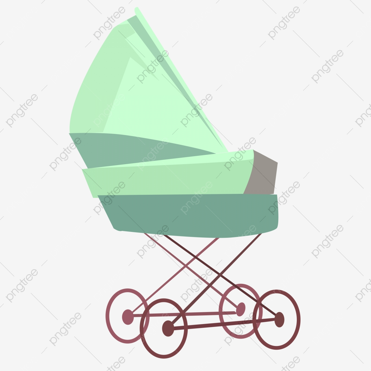 Cute Cartoon Baby Carriage Cartoon Lovely Stroller Png And