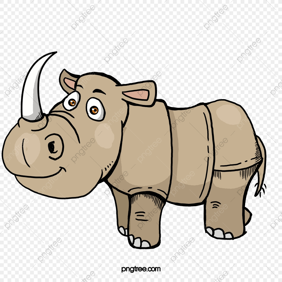 Cute Rhino, Cute Clipart, Rhino Clipart, Rhinoceros PNG