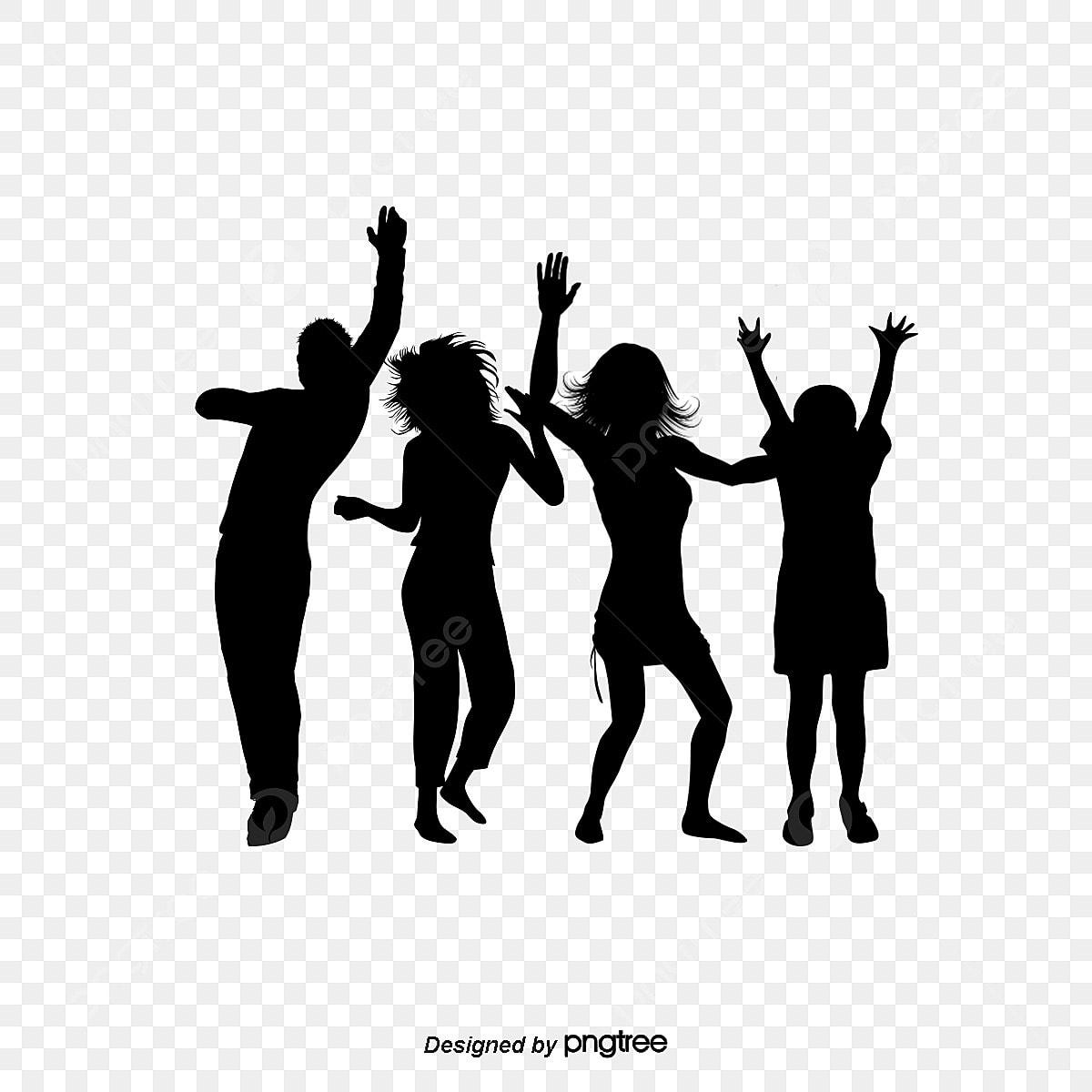 la danse de silhouette vecteur dessin peint  u00e0 la main png et vecteur pour t u00e9l u00e9chargement gratuit