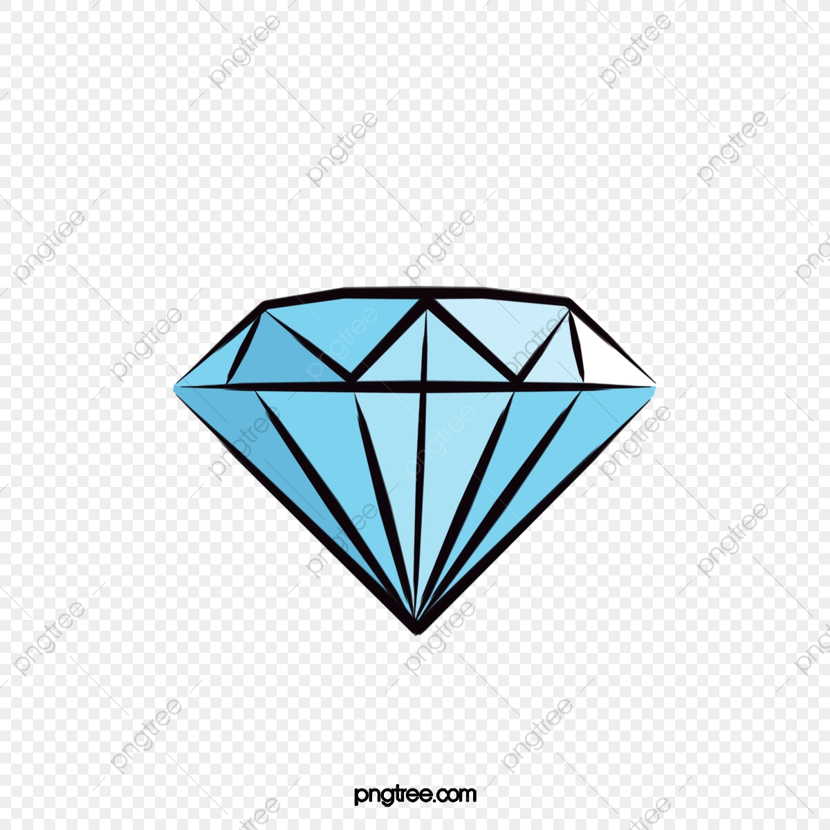 Diamond cartoon. Clipart png transparent image