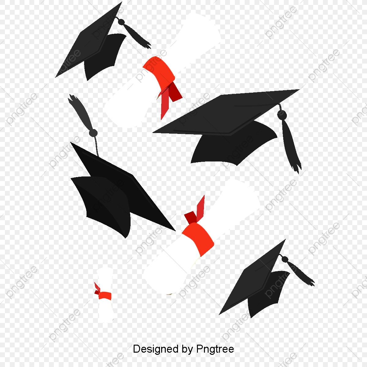 Graduation cap or hat illustration in the flat style. academic ... | 1200x1200
