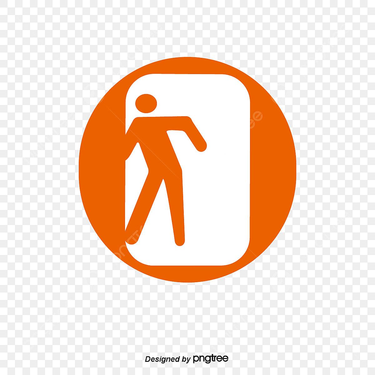 مخرج الطوارئ علامات السلامة من الحريق الجمهور العلامة المميزة علامات المعلومات العامة Png والمتجهات للتحميل مجانا