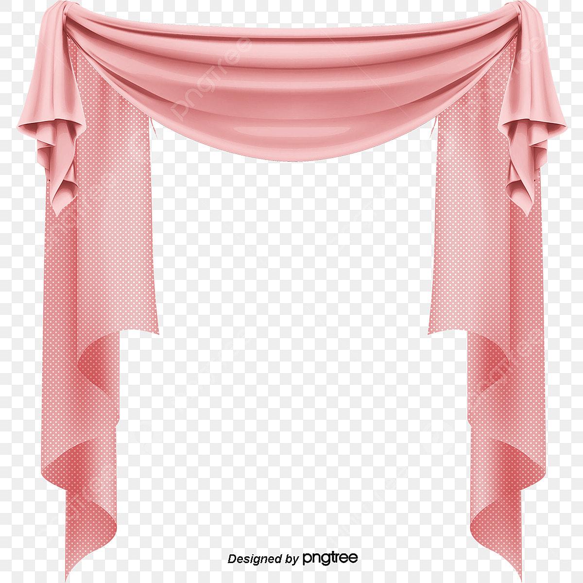 Beautiful Pink Curtain