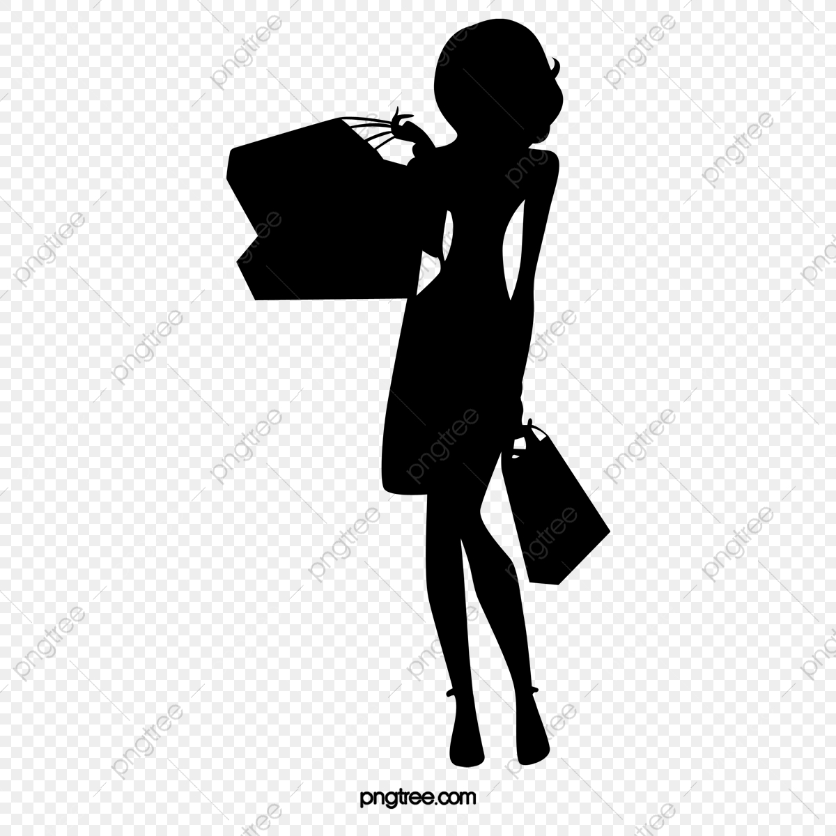 Commercial use resource upgrade to premium plan and get license authorization upgradenow · fashion shopping girl silhouette