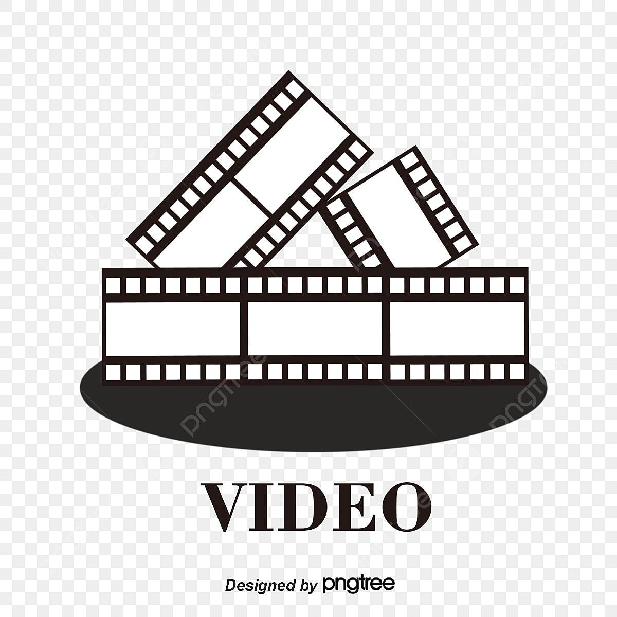 Pelicula Gratis Logo Vector Image Video Cine Gratis Elemento