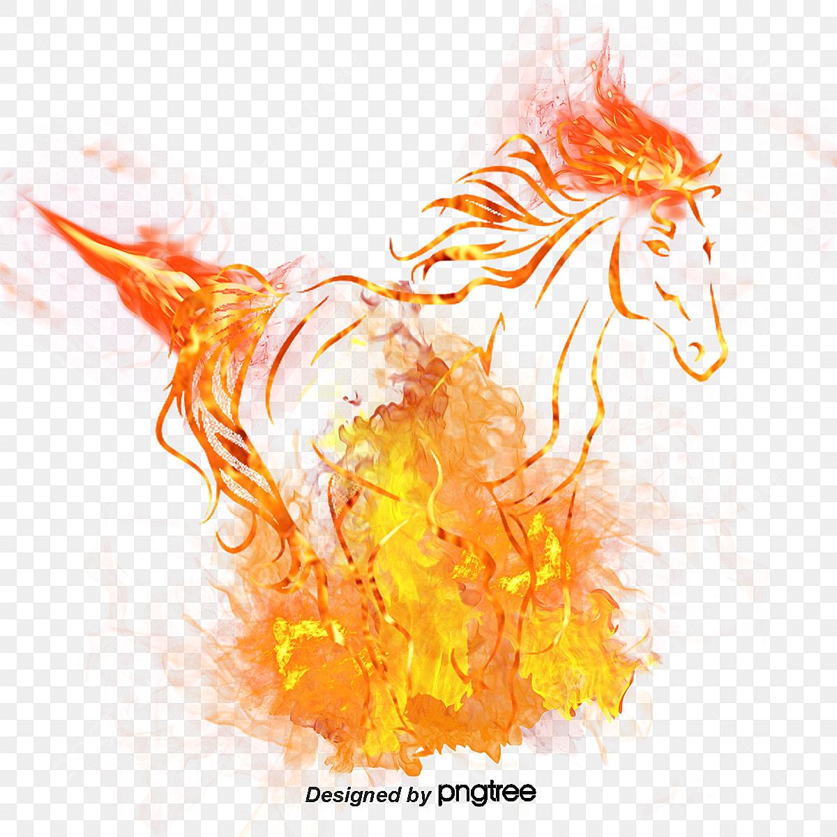 cheval de flamme feu bougie d allumage flamme fichier png