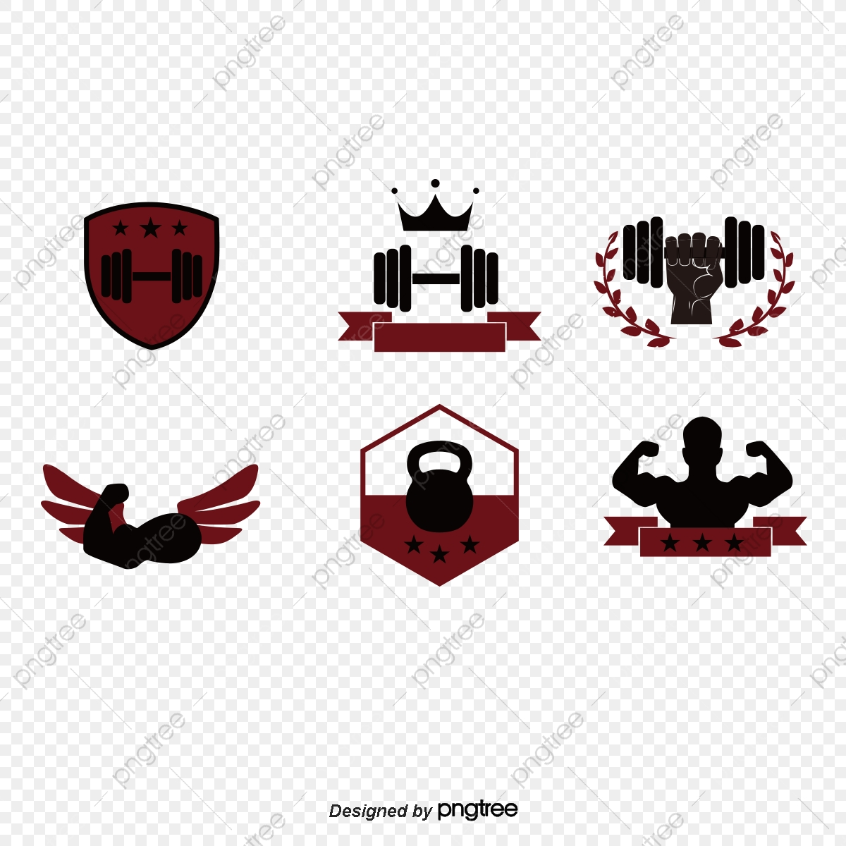 logo de l ic u00f4ne de musculation  u5065 u8eab logo cr u00e9atif conception png et vecteur pour t u00e9l u00e9chargement gratuit