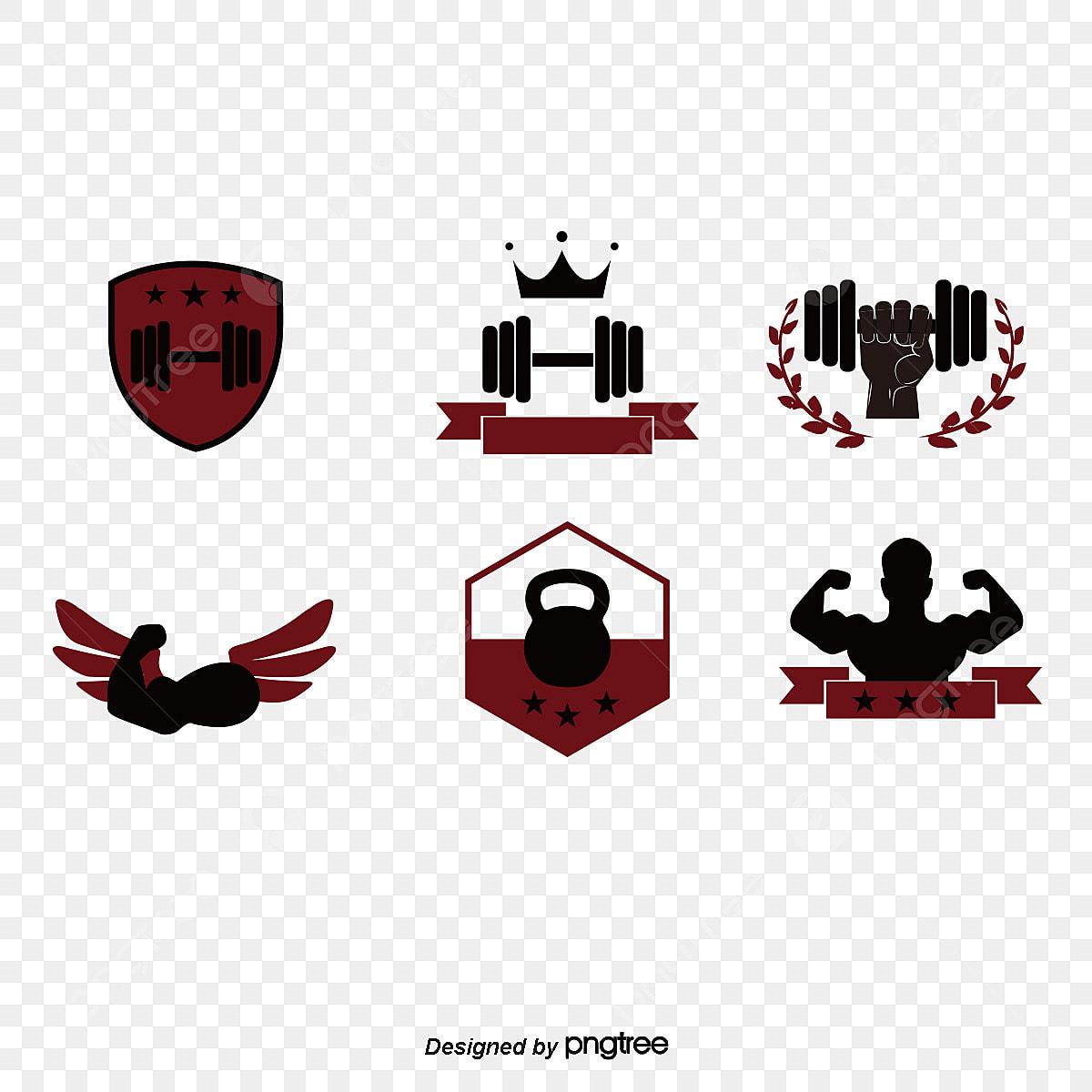 logo de l ic u00f4ne de musculation  u5065 u8eab logo cr u00e9atif conception