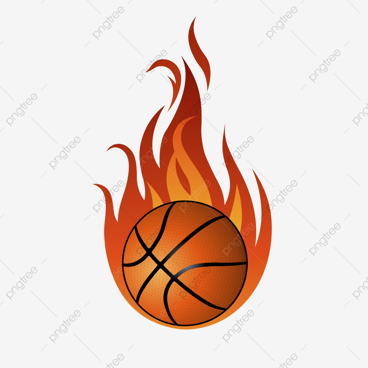 Flame Basketball, Basketball Clipart, Flame Clipart, Flame