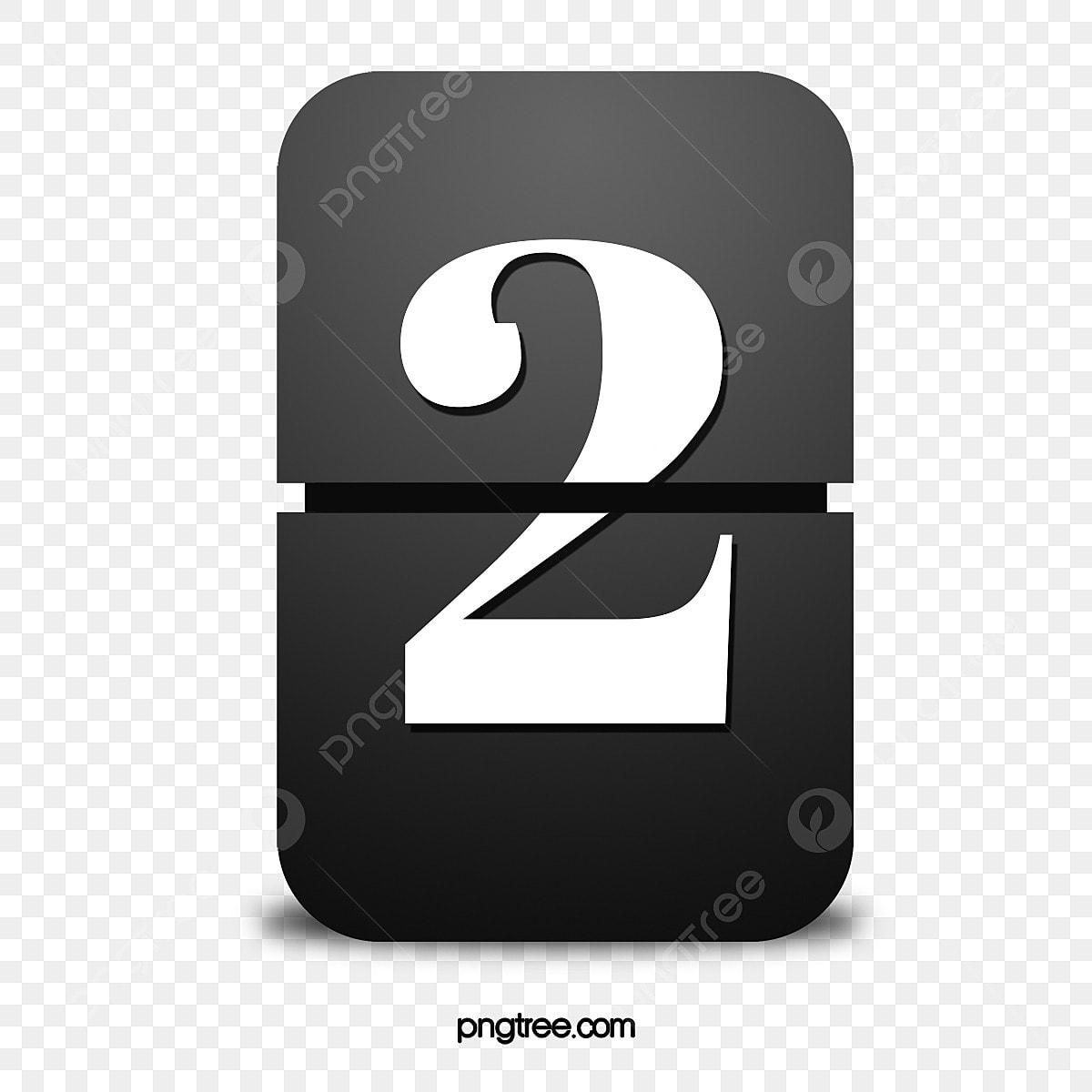 O Numero 2 Do Flop Numero Digital 2 Imagem Png E Psd Para Download Gratuito