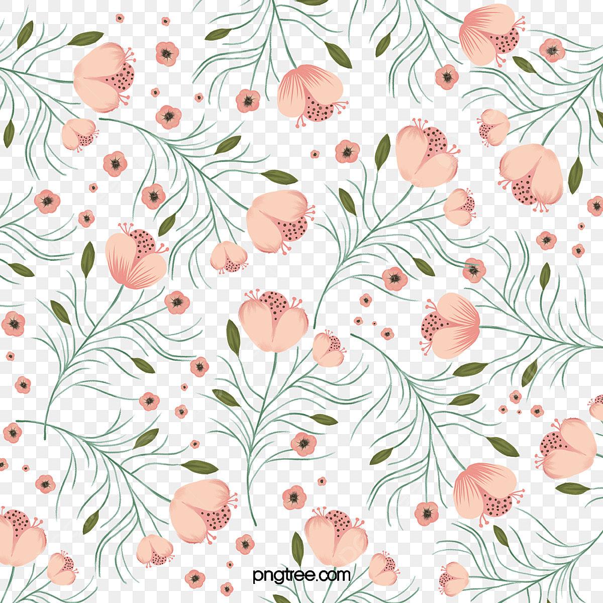 Flower Print Flower Clipart Hand Painted Flower Print Pink