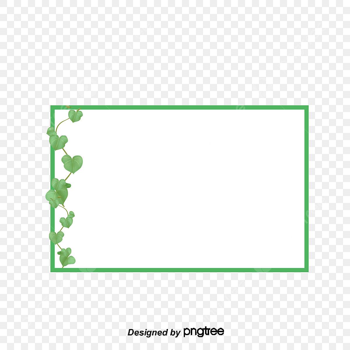 cadre cadre vert rotin fichier png et psd pour le