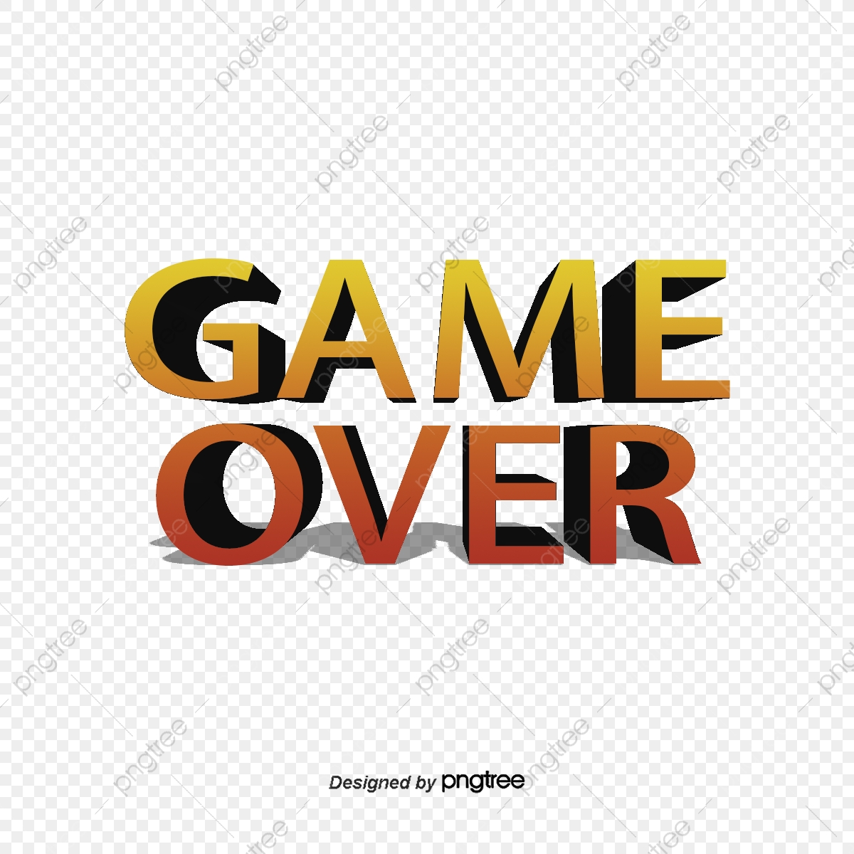 Game End Game Over Game Over End Png Transparent Clipart Image And Psd File For Free Download