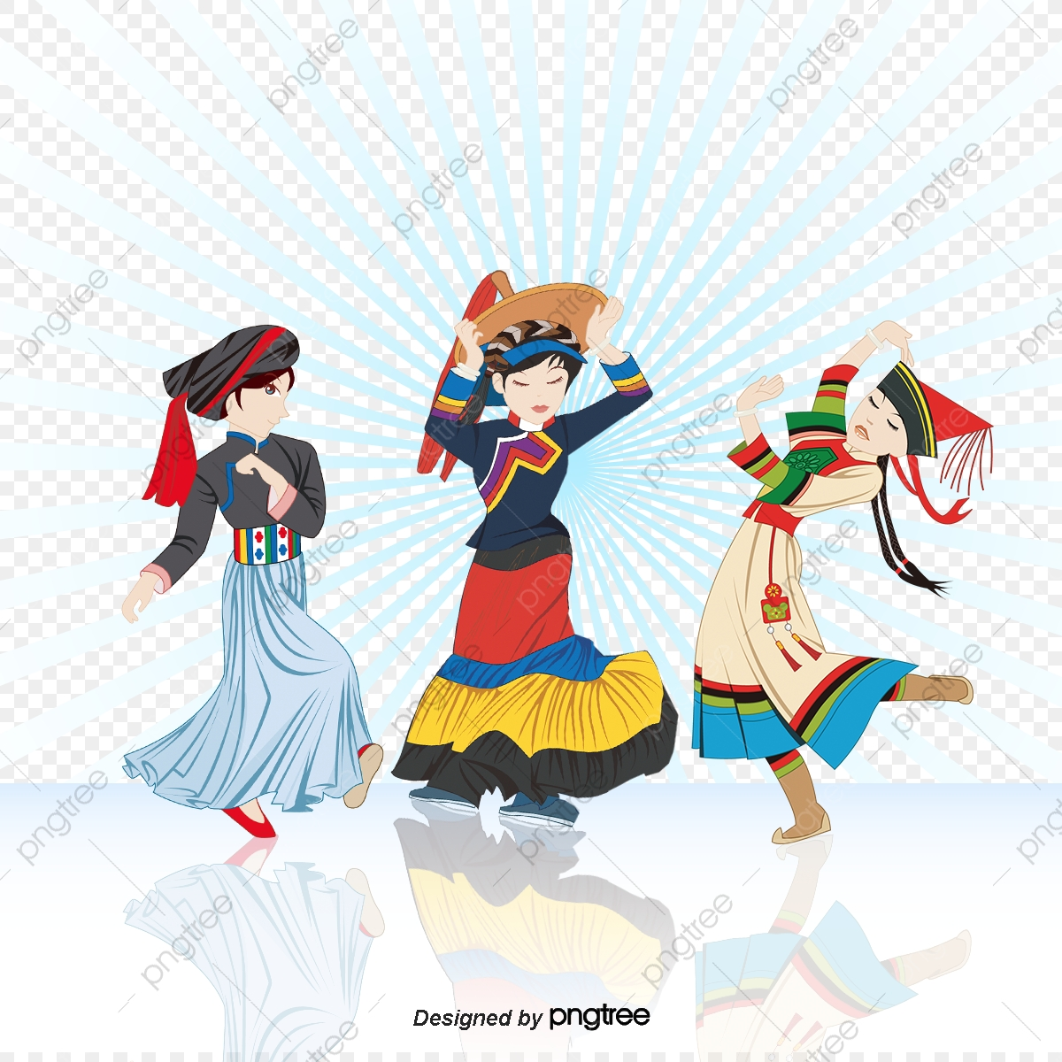 Indian Dance Vector Beautiful People, Character, Cartoon Characters