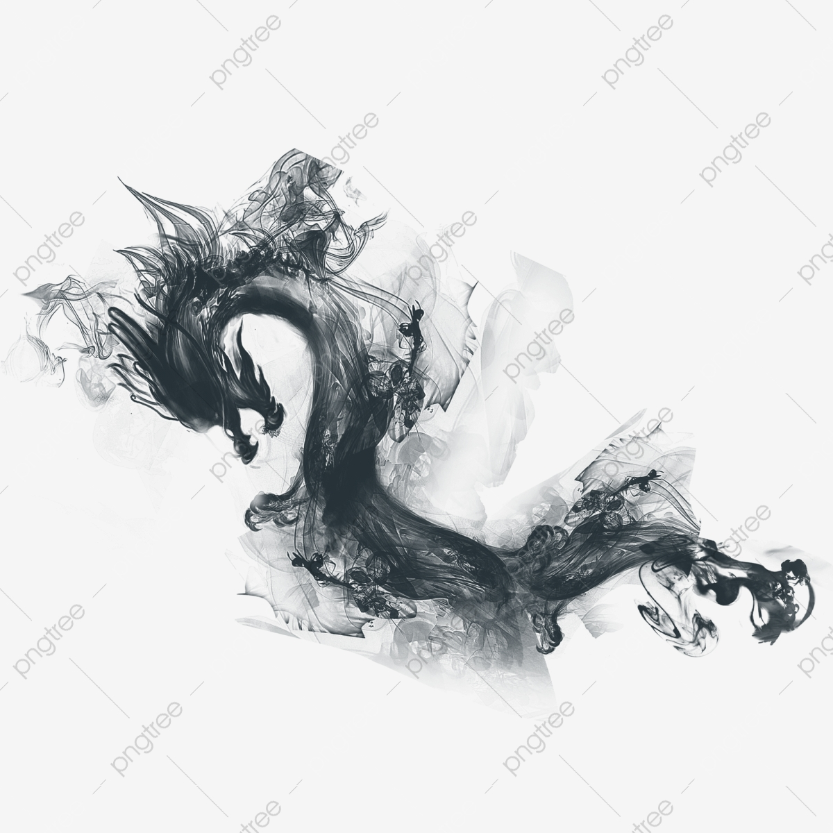 ink chinese dragon ink chinese dragon dragon png transparent image and clipart for free download https pngtree com freepng ink chinese dragon 263406 html
