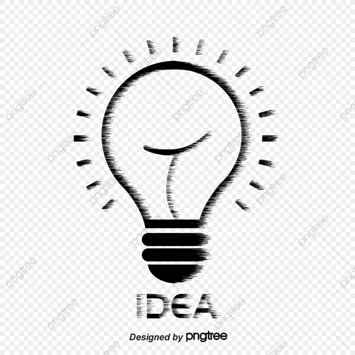Light Bulb Chalk Graffiti Cartoon Png And Vector With