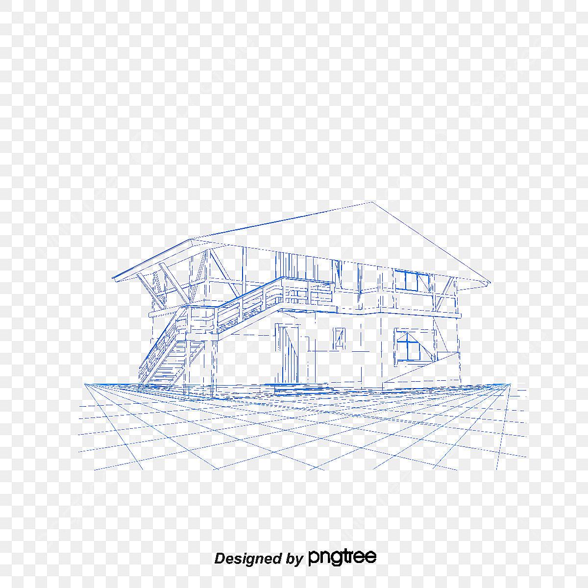 Linear Fashion Model House Design Building Architectural