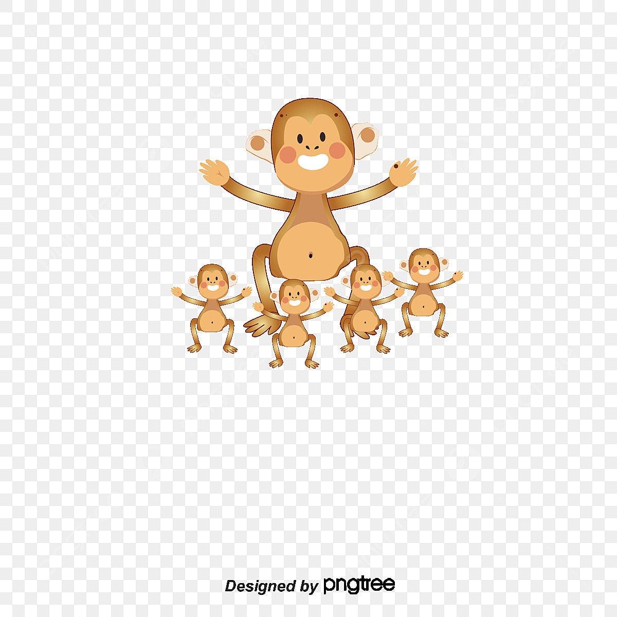 A Mae E O Bebe Macaco Macaco Macaco De Merda Macaco Animais Dos