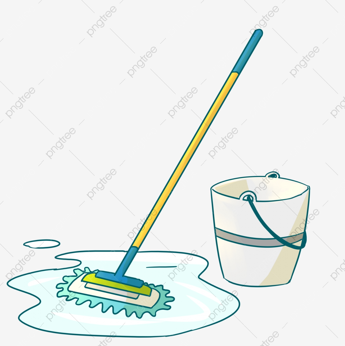 Mop Broom Cleaning Tool, Health Tools, Cleaning, Mop PNG Transparent