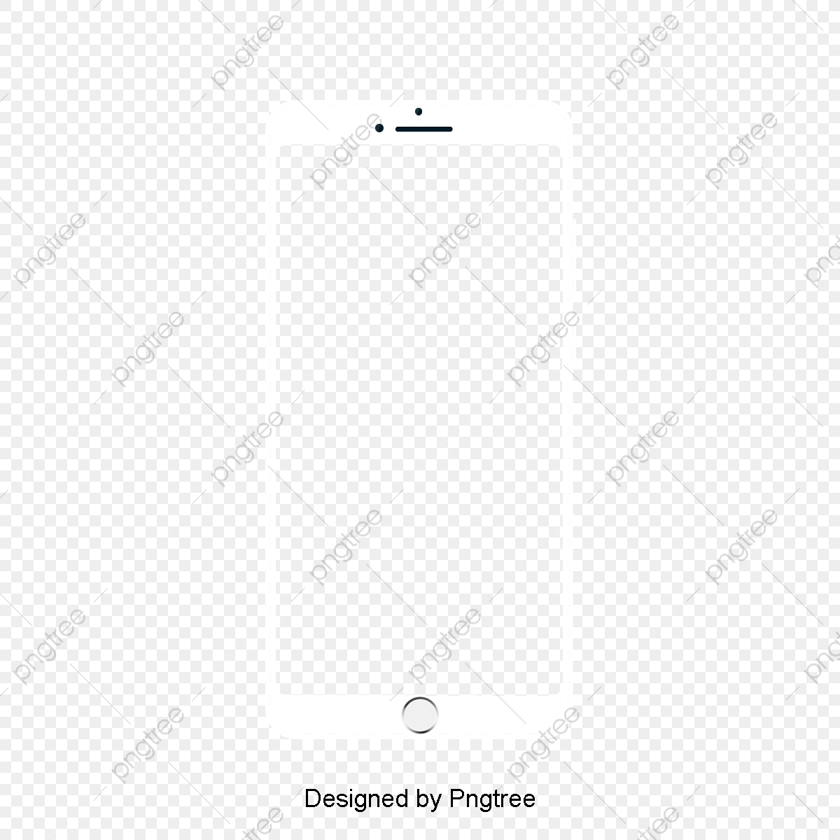 Phone Frame, Phone Clipart, Frame Clipart, White PNG