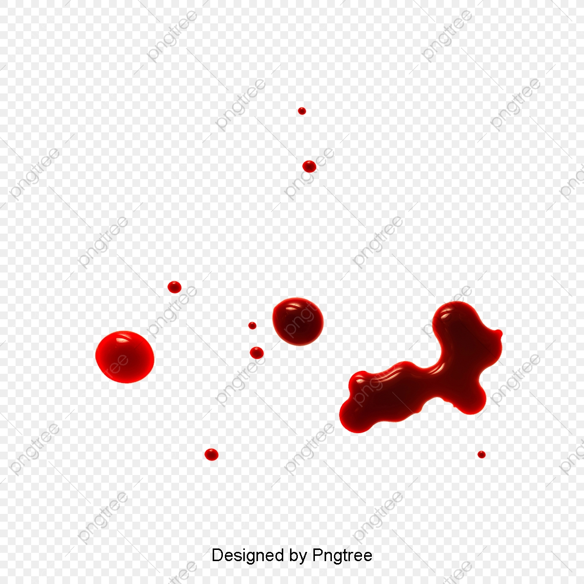Realistic Drops Of Blood, Blood Clipart, Blood Drop
