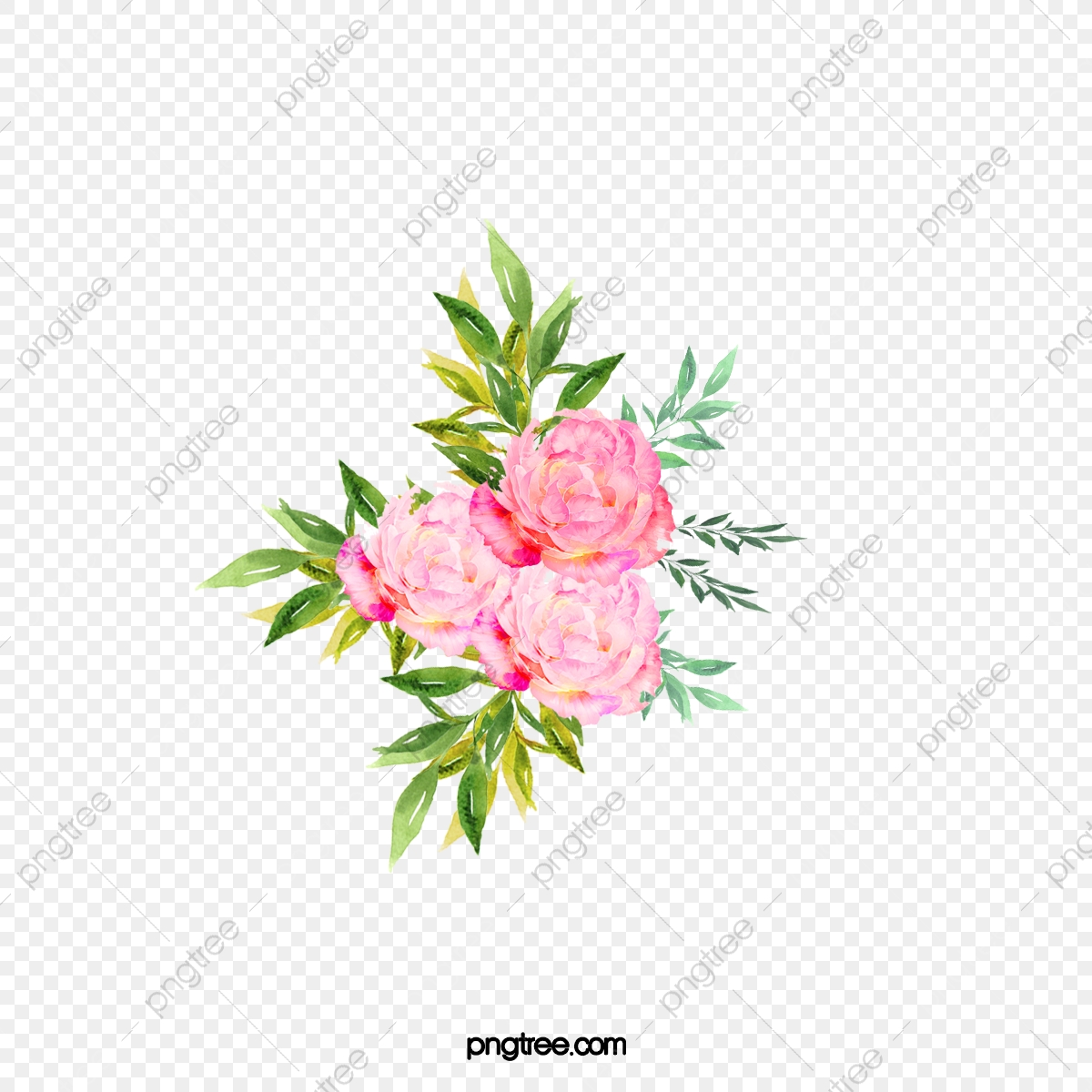 Refined Aesthetic A Bouquet Of Flowers Sen Department Watercolor Flowers Png Transparent Clipart Image And Psd File For Free Download