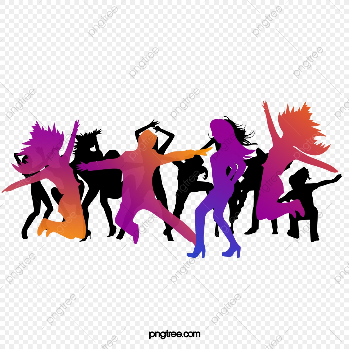 Silhouette People Jumping Dance People Clipart Dance Clipart Crowd Png Transparent Clipart Image And Psd File For Free Download