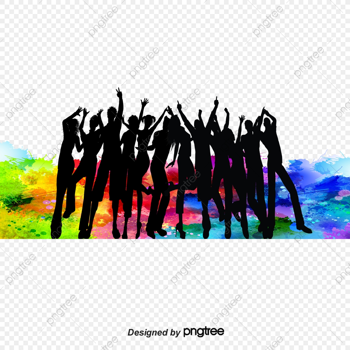 Silhouettes Of People Dancing, People Clipart, Dancing Clipart