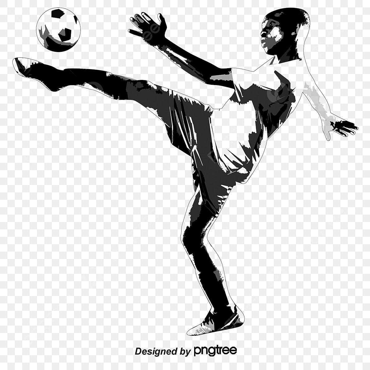 Fussball Figur Fussball Figur Element Der Bewegung Sport