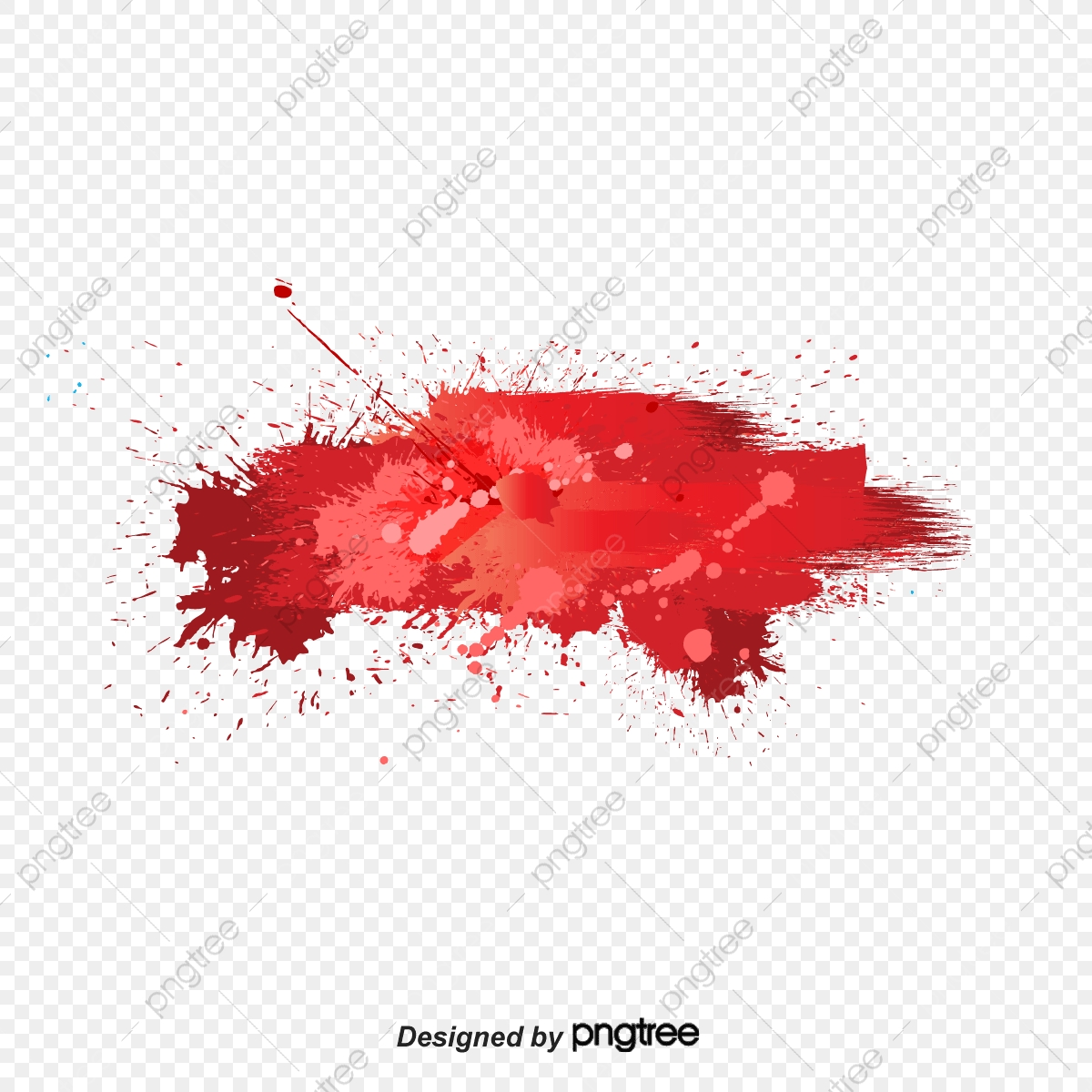 Splash Ink Red Color Ink Jet Png And Vector With Transparent Background For Free Download
