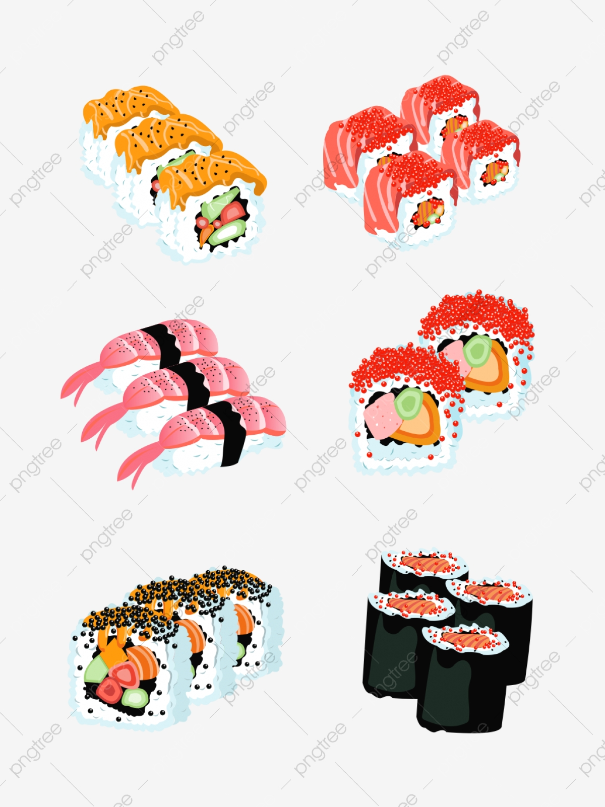 Sushi Clipart PNG Images   Vector and PSD Files   Free Download on Pngtree