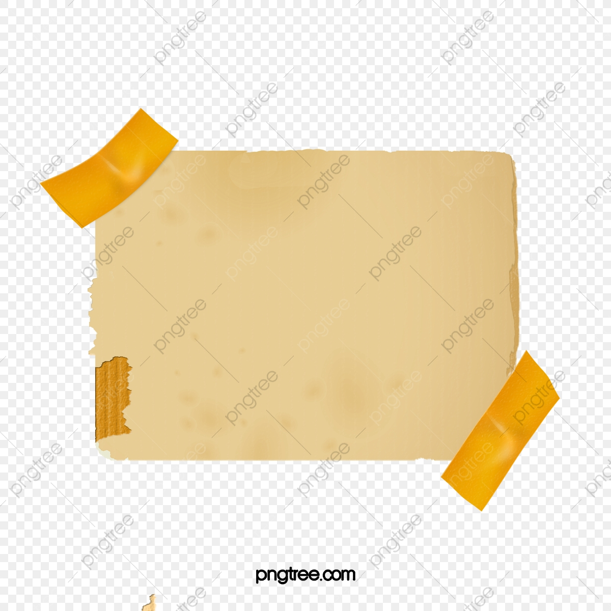 Taped note. Tape notes paper png