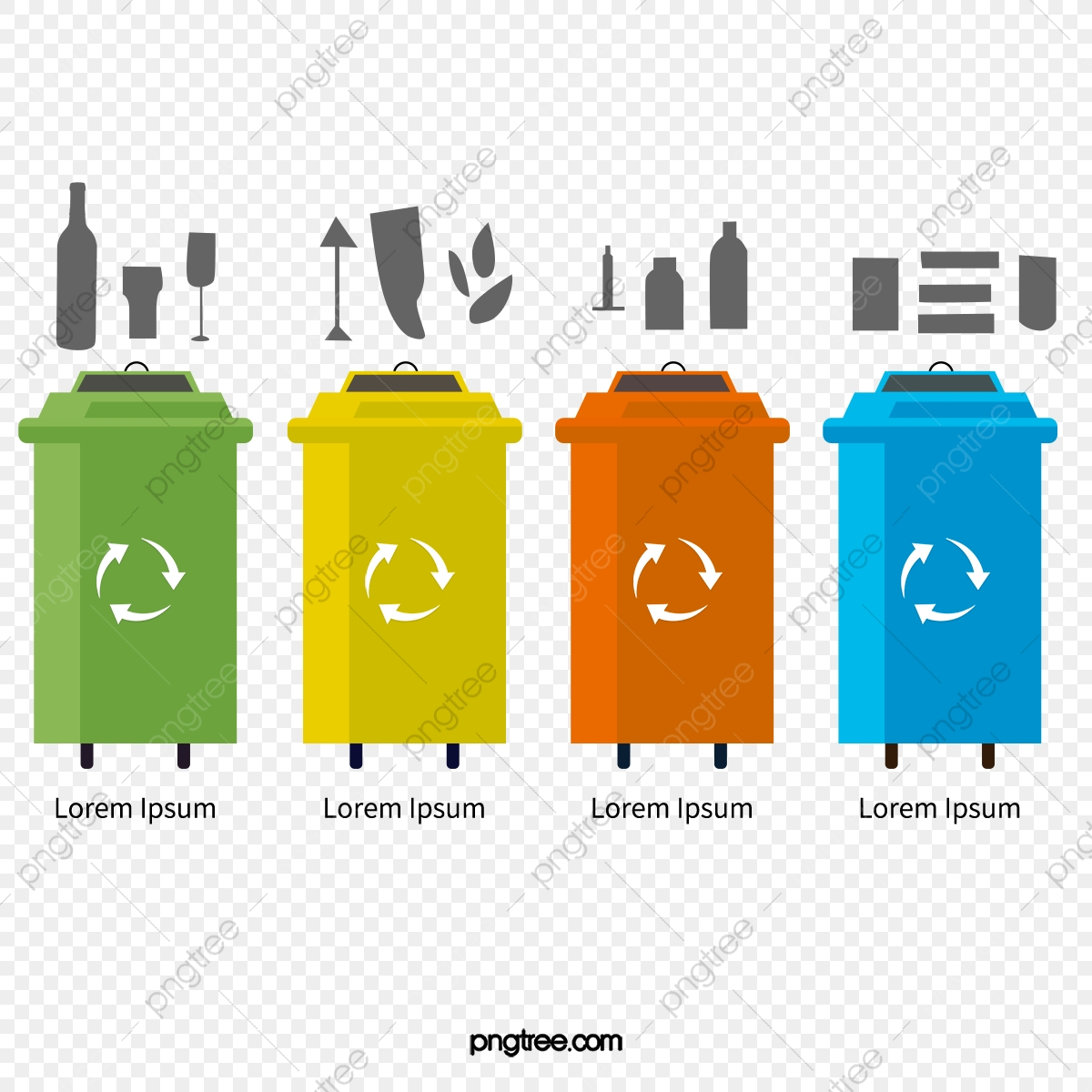 Trash Can Can Clipart Garbage Classification Map Png