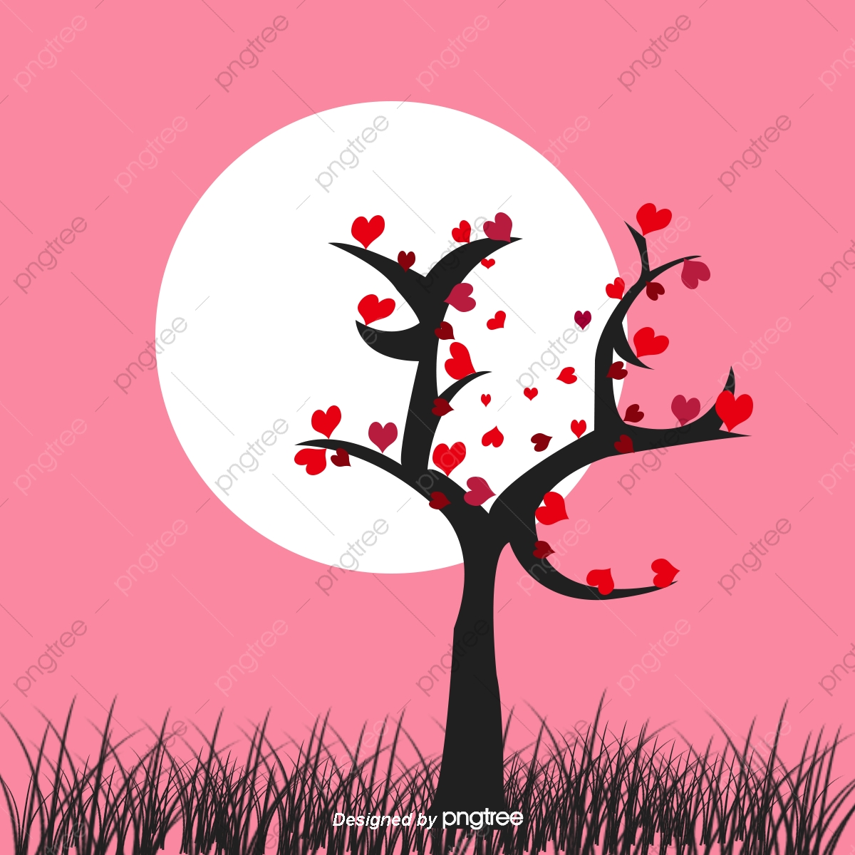 心樹の葉無料ダウンロード 愛 レイアウト イラスト画像素材の無料