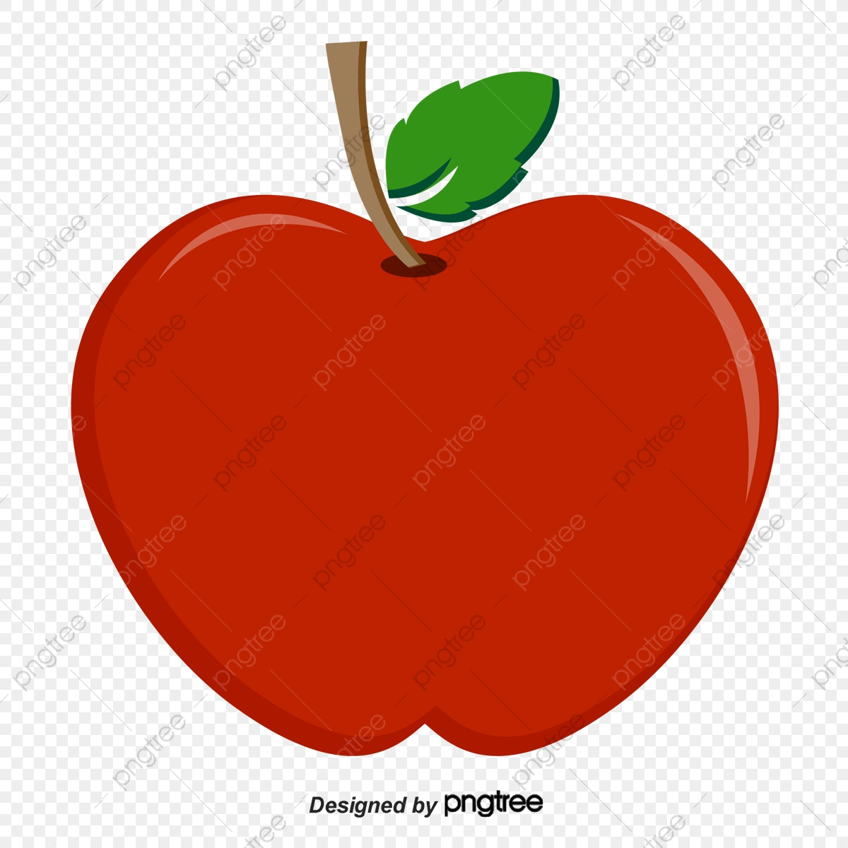 Apple fruit. Vector pattern clipart png