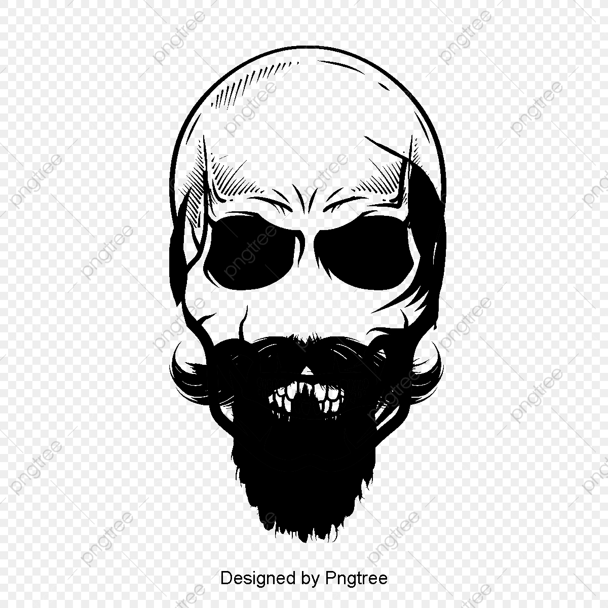 Commercial use resource upgrade to premium plan and get license authorization upgradenow · vector bearded skull