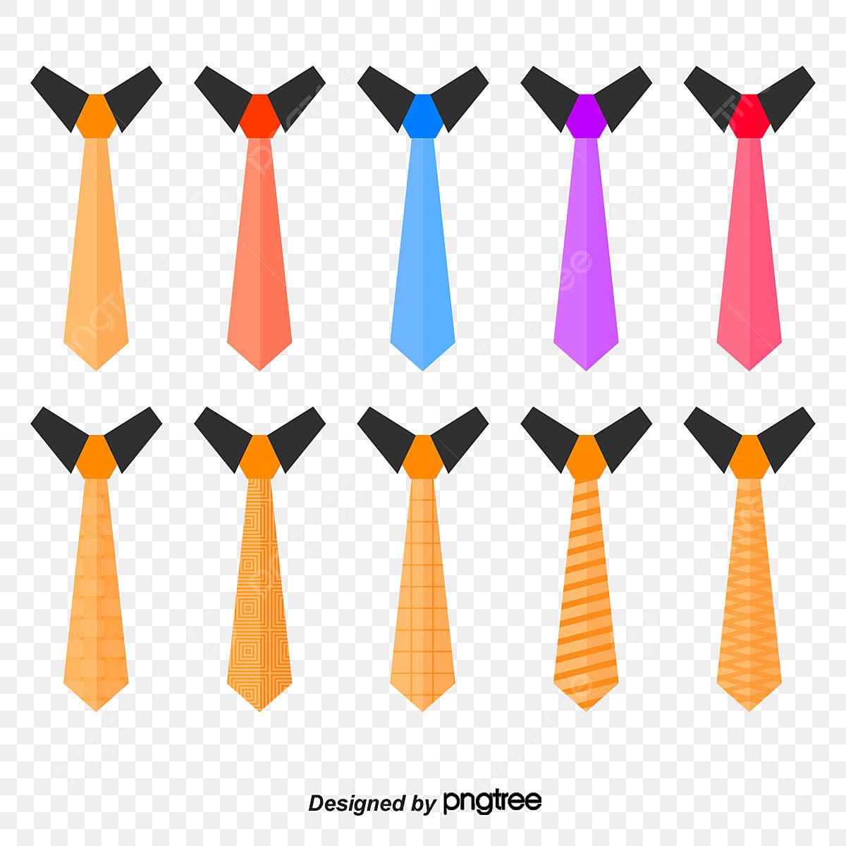 vecteur de toutes sortes de cravate chemise cravate un costume png et vecteur pour